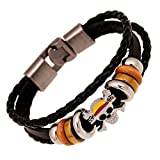 straw hat pirates Luffy bracelet leather retro leather bracelet with male and female couple gift hand punk