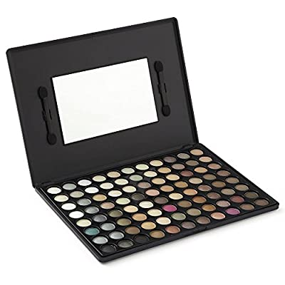 LaRoc ® 88 Colour Eyeshadow Palette Makeup Kit Set Box with Mirror - Natural Tones