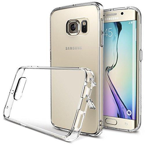 Galaxy S6 edge (SC-04G)/(SCV31) ケースRearth Ringke Fusion - Crystal View (2015モデル国内正規品)ストラップホール付  衝撃に強い! ホコリキャップ(液晶保護シート付き) (Crystal View)