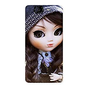 Delighted Sweet Angel Doll Multicolor Back Case Cover for Canvas Knight A350