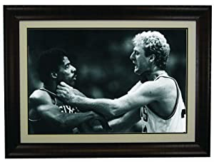 Larry Bird Choking Dr J Framed 20x 30 Photo by Champion