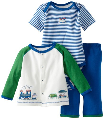 Blue Stripe Little Me Childrens Apparel Baby and Toddler Boys UPF 50 Rashguard Suit 12 Months