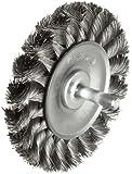 Weiler Standard Wire Wheel Brush, Round Shank, Steel, Partial Twist Knotted