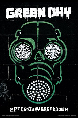 Bravado Green Day Gas Mask 12 X 18 inches Small Poster  available at amazon for Rs.179