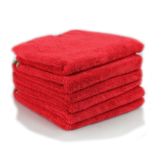 Chemical Guys MIC_997_6 Fluffer Miracle Supra Microfiber Towel, Red (24 in. x 16 in.) (Pack of 6) (Red Hand Towels compare prices)
