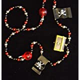Pirate Treasure Chest Bombs And Flags Mardi Gras Bead Necklace Spring Break Cajun Carnival Festival New Orleans...