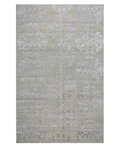 Meva Rugs Medallion Hand-Knotted Rug, Taupe, 5' x 8'
