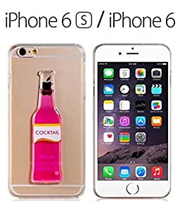 iPhone 6/6s - Liquid 3D Cocktail Bottle Soft Back Cover for iPhone 6 & iPhone 6s - PINK