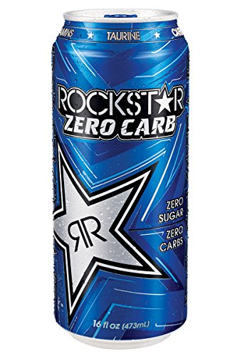 Rockstar Zero Carb Energy Drink, 16-Ounce Cans (Pack of 24) (Energy Drinks Rockstar compare prices)