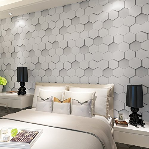 hanmero papier peint trompe l il intisse effet 3d solide. Black Bedroom Furniture Sets. Home Design Ideas
