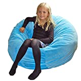 Ahh! Products Cuddle Minky Aqua Washable Large Bean Bag Chair
