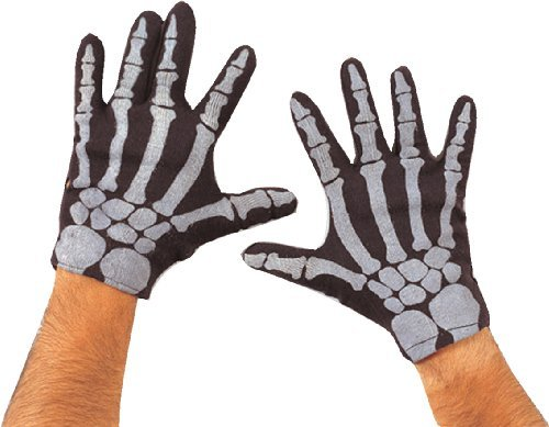 Rubie's Costume Co Men'S Skeleton Gloves-Black Costume