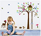 Asmi collection PVC Wall Stickers Wall Decals Tree House Monkey Owl Deer