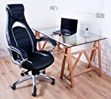 GT 500 Leather Bucket Seat Office Racer Chair