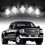Partsam 5x Smoke Cab Roof Running Light Marker Light Lens +5xT10 6-5730 SMD HID Xenon White LED for 1999-2016 Ford E-150 E-250 E-350 E-450 F-150 F-250 F-350 F-450 F-550 F-650 F-750 Super Duty