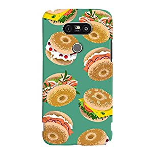 ColourCrust LG G5 / Optimus G5 Mobile Phone Back Cover With Burger For Foodies Pattern Style - Durable Matte Finish Hard Plastic Slim Case
