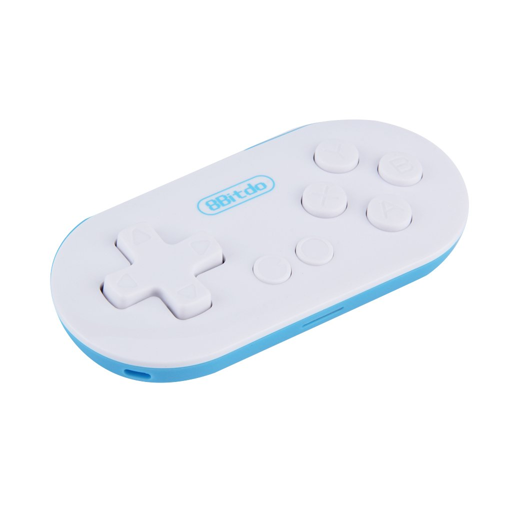 8Bitdo ZERO Mini Controller Portable Bluetooth White Wireless GamePad