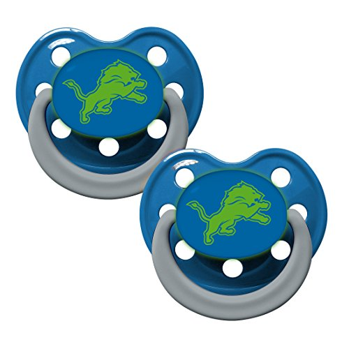 Detroit Lions Glow in Dark 2-Pack Baby Pacifier Set - NFL Infant Pacifiers