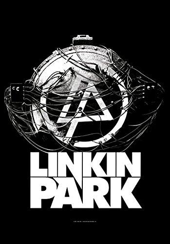 Heart Rock Licensed Bandiera Linkin Park - Atomic Age, Tessuto, Multicolore, 110X75X0,1 cm