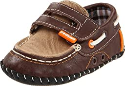 pediped Originals Naples Loafer (Infant),Brown,Extra Small (0-6 Months)
