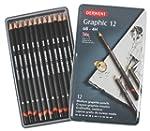 Derwent Graphic Pencils, Medium, Meta...