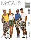McCall's Sewing Pattern 8934 Boxer Shorts in 3 Lengths, Size MED (38, 40), The Easy 60 Minute Pattern