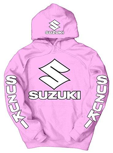 suzuki-felpa-con-cappuccio-uomo-pink-xxx-large