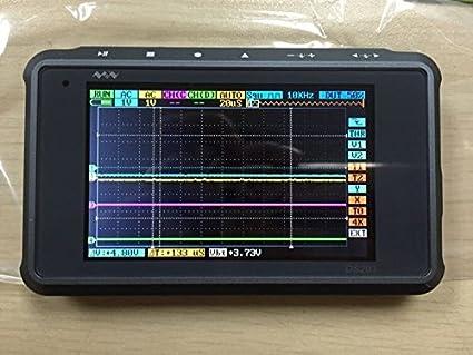 SMO ARM DSO203 Oscilloscope numérique 4 canaux (boîtier en aluminium) Argent / Noir avec Prob