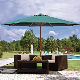 13 Foot Market Patio Umbrella Outdoor Furniture Green Price Anvcdksl