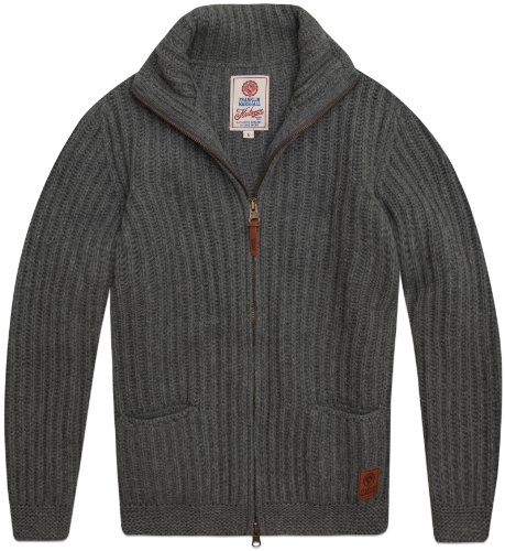 Franklin & Marshall Men's College Pullover Knmr149W12 Sweatshirt Grey (Grey Melange) 46/48