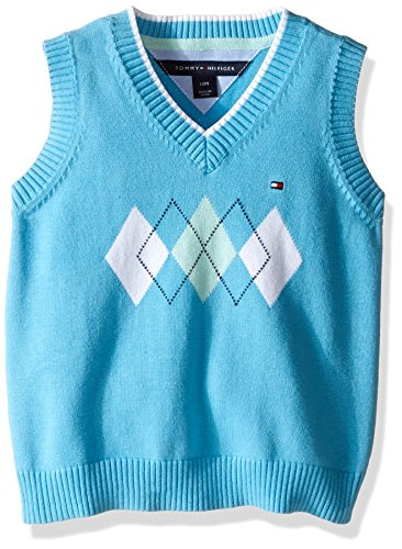Tommy Hilfiger Baby Boys' Henry Sweater Vest, Zen Blue, 24 Months