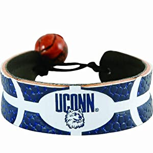 Buy Connecticut Huskies Team Color Basketball Bracelet by GameWear