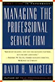 img - for Managing The Professional Service Firm book / textbook / text book