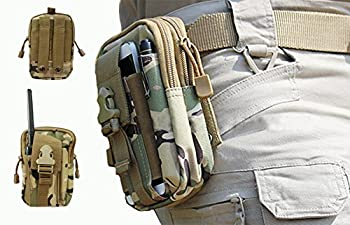 LefRight(TM) Camouflage Strength Oversize 1000D Nylon Tough Duty Tactical Molle Compatible Sport Outdoor Gear Utility Carrying Gadget Pouch /Tools Belt Waist Bag / Accessory Pouch Bag for Samsung Galaxy Note i9220 Note 2 N7100 Note 3 N9000 Note 4 N9100 No
