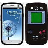 kwmobile® SILIKON CASE Gameboy Design für Samsung Galaxy S3 i9300 / S3 Neo i9301 in Schwarz - Stylisches Design und optimaler Schutz
