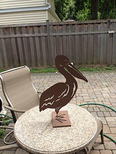 Metal Garden Art Pelican Home Decor Sculptures