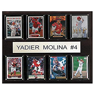 C and I Collectables MLB 15W x 12H in. Yadier Molina St. Louis Cardinals 8 Card Plaque