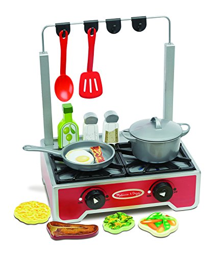Melissa & Doug Deluxe Wooden Cooktop Set (Wooden Stoves compare prices)