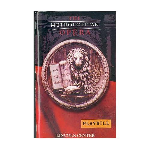 Mozart: Le Nozze di Figaro - Metropolitan Opera Playbill - October 21, 1999 , De Waart, Edo (conductor)