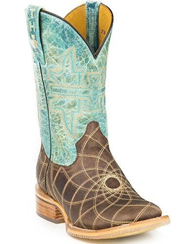 tin-haul-womens-dreamcatcher-cowgirl-boot-square-toe-brown-11-m-us
