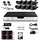 Zmodo PKD-DK0855-500GB 8-Channel DVR Security System with 8 CMOS IR Cameras, 500 GB Hard Drive and Web/Mobile Access