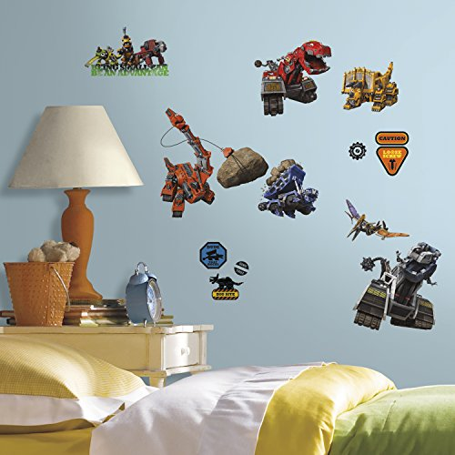 RoomMates RMK3109SCS Dinotrux Peel and Stick Wall Decals