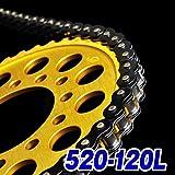 チェーン 520-120L ブラック チェーン RGV250ガンマ XL250 KDX250SR KLE400 TRX200SX FZR400 DRZ400SM CBX250RS GB250 GN400T バンディットVZ ZX-6RR XL230 WR125 CR125 XT250T SL230 エリミネーター250V CR125R FX400R WR450F グース350 XR250