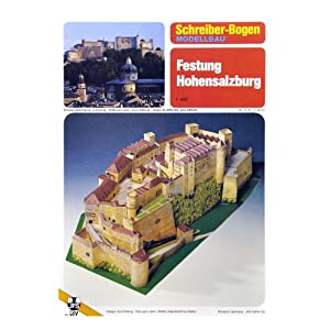 Schreiber-Bogen Hohensalzburg Castle Card Model