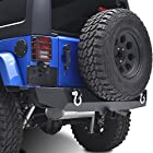 E-Autogrilles 07-15 Jeep Wrangler JK Heavy Duty Rock Crawler Rear Bumper (51-0310)