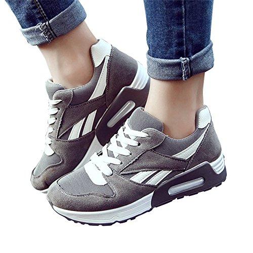 Moollyfox Mujer Casual Respirable Max Air Corriendo Zapatos Gris