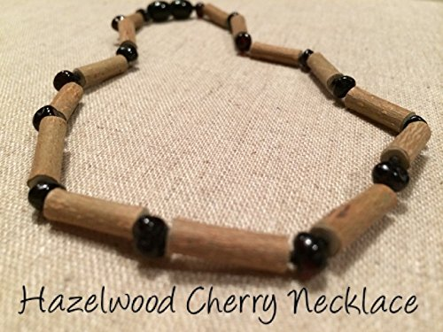 Black Cherry Hazelwood 12.5 to 13 inches Necklace for babies baby infant toddler bub for Gut issues; Eczema, Colic, Reflux, GERD, heartburn, and ulcers. 100% Satisfaction Guaranteed. 33-34 cm