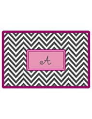 Special Offer For Everyday Tabletop Placemat Design: Grey Chevron With Low Price