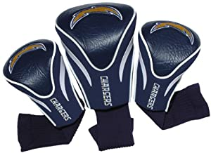 NFL San Diego Chargers 3 Pack Contour Fit Headcover by Team Golf