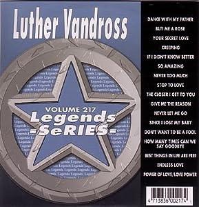 Legends Karaoke Volume 217 - Hits Of Luther Vandross (CD+G)